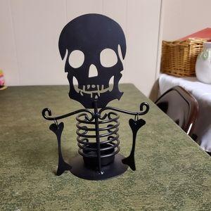 Skeleton tealight candle holder
